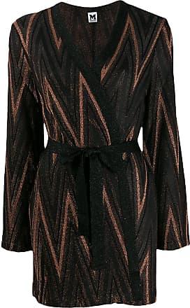 M Missoni Zigzag metallic knit cardigan - Preto