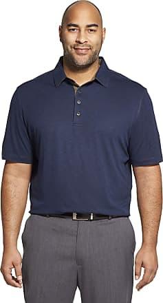Van Heusen Mens Air Soft Touch Polo Shirt, Blu Underground, Medium