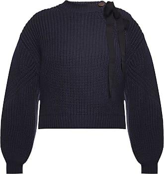 Ulla Johnson Thalia Woven Sweater Womens Navy Blue
