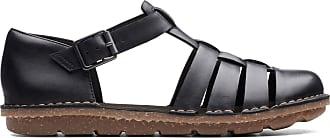 Clarks Womens Sandal Black Leather Clarks Blake Moss Size 8.5