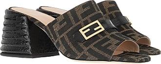 Fendi Sandals - Heeled Mules Brown - brown - Sandals for ladies