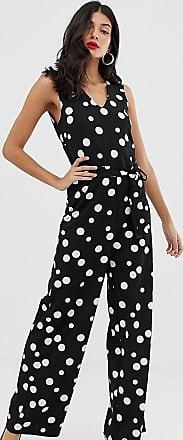 Y.A.S. Tall Natal polka dot print jumpsuit-Blue