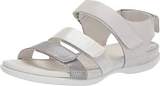 87a5f126f39f Ecco Womens Flash Strap Sandal Wild Dove Shadow White