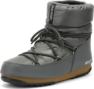 f9f3e4f250bb Moon Boot Low Womens Grey Nylon Boots-UK 5