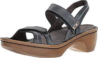 Naot Womens Brussels Wedge Sandal, Vintage ash lthr Wood Sole, 35 Medium EU (4 US)