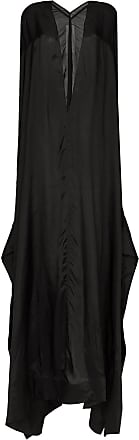 Rick Owens Vestido longo mangas longas - Preto
