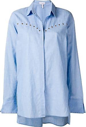 Escada Sport Camisa oversized com botões - Azul
