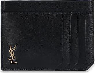 Saint Laurent Card Holder With Logo Mens Black
