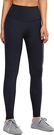 CRZ YOGA Damen H/öhe Taille Winter Leggings Thermo Leggings Sporthose Fitnesshose mit Verdeckte Tasche-93cm