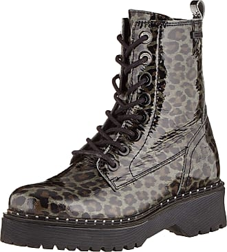 Dockers by Gerli Womens 45at201 Combat Boots, Black (Dunkelgrau/Schwarz 221), 4.5 UK