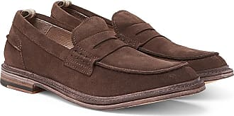 Officine Creative Durham Suede Penny Loafers - Brown
