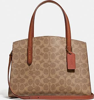 Coach Charlie Carryall 28 In Signature Canvas in Beige/Brown