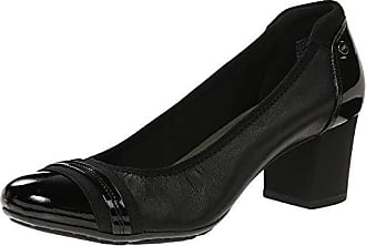 Anne Klein Sport Womens Guardian Leather Dress Pump, Black, 10 M US