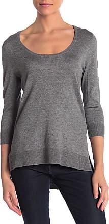 Cyrus 3/4 Sleeve Hi-Lo Scoop Neck Sweater