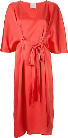 Ingie Paris tie detail dress - Vermelho