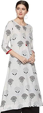 Indigo Womens Cotton a-line Kurti (SS19/IND-523_ Grey_ S)