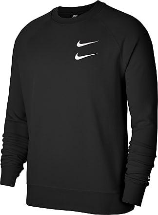 Nike NSW Swoosh Sweatshirt Herren in black-white, Größe XXL