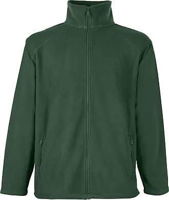 Fruit Of The Loom Womens/Ladies Lady-Fit Full Zip Fleece Jacket (2XL) (Bottle Green)