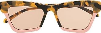 Karen Walker oversized sunglasses - Brown