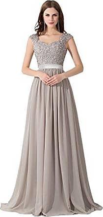 ce7d35b6cfb2fd MisShow Hochwertig Damen langes Abendkleid Partykleider CocktailKleid  Spitzenkleid bodenlang V-Ausschnitte Gr.40