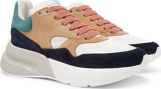 Alexander McQueen Exaggerated-sole Suede And Mesh Sneakers - Multi