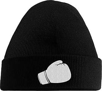 HippoWarehouse Boxing Glove Embroidered Beanie Hat Black