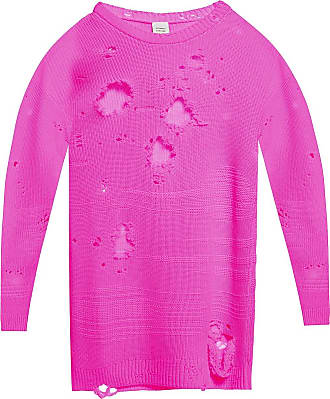 VETEMENTS Sweater With Rips Womens Pink