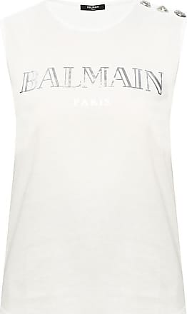 beige Ribbed top  Balmain  Topper - Dameklær er billig