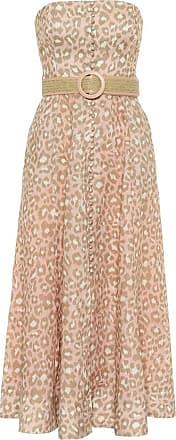 Zimmermann Carnaby belted linen midi dress