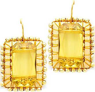 Tinna Jewelry Brinco Dourado Moldura (Amarela)