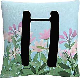 Trademark Fine Art Pink Floral Garden Letter Illustration H by ABC
