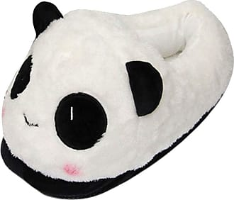 Cosstars Cute Panda Cosplay House Slippers Furry Indoor Slip On Shoes for Women and Men 2
