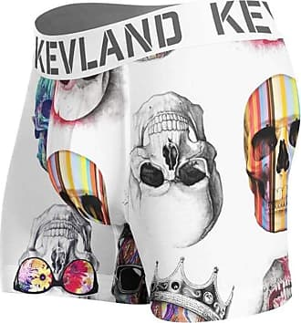 Kevland Underwear Cueca Kevland Boxer Colored Skulls White KEV284 GG
