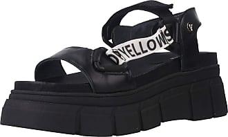 Yellow Women Sandals and Slippers Women Zip Black 3.5 UK