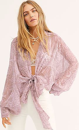 Free People Golden Hour Tie Front Kimono by Free People
