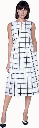 Akris A-line Checked Dress