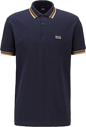 BOSS Poloshirt aus Baumwoll-Piqué mit Logo an der Kragenunterseite