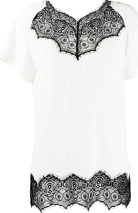 Escada Sport scalloped lace T-shirt - Branco