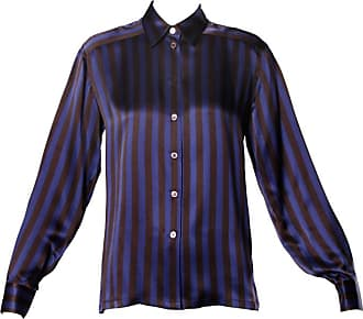 85106821120b03 Escada By Margaretha Ley Vintage Striped Silk Button Up Blouse