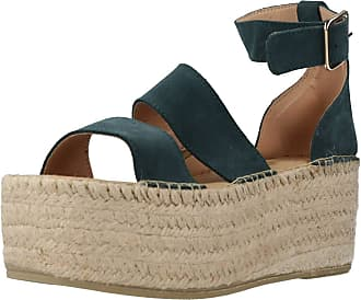 Yellow Women Sandals and Slippers Women Strip Green 7.5 UK