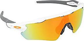 Oakley Mens Radar EV Path OO9208-16 Non-Polarized Iridium Shield Sunglasses, Polished White, 138 mm