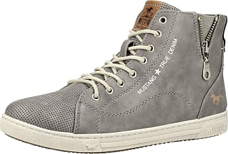 Mustang Womens Booty High-Top Sneakers 1349-501, Size:5 UK, Colour:Grey