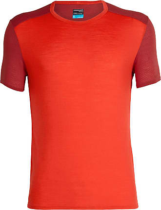 Icebreaker Amplify SS Crewe Top Men chili red/sienna Size L 2019 Running T-shirt