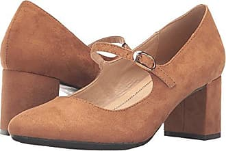 Chinese Laundry Womens Anslee Mary Jane Pump, Caramel Super Suede, 8 M US