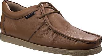 Lambretta Woodstock Mens Classic Wallabee Leather Lace Up Casual Smart Shoes UK 14 / EU 48 Tan Leather