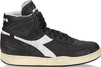 Diadora mens shoes high top leather trainers sneakers trident mid s sw  black UK size 5 9762eb6936