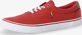 Polo Ralph Lauren Herren Sneaker mit Leder-Anteil rot