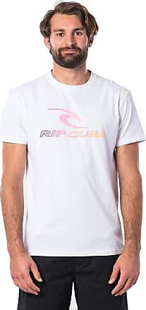 Rip Curl The Surfing Company Men,T-Shirt,Short Sleeve Tee,Short Sleeves,Round Neckline,Logo,Optical White,XL