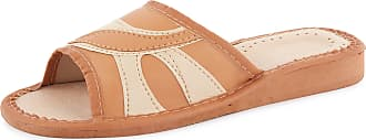 Ladeheid Women´s Natural Leather Shoes Slippers Flipflops LABR20 (Beige, 6 UK)