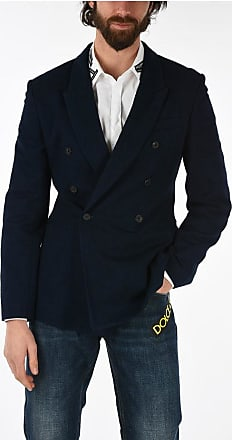 Haider Ackermann side vents double-breasted blazer size 50